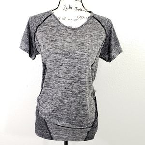 ZELLA Gray Workout Short Sleeves Tee Size L
